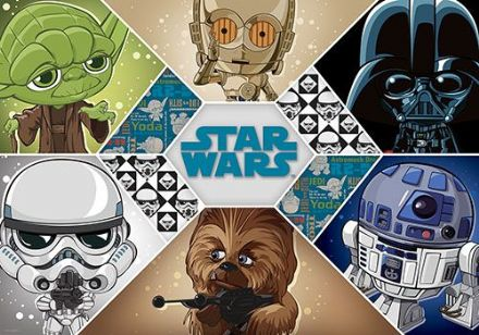 Non-woven wallpaper Star Wars cartoon for children's bedroom